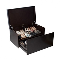 designer slide out 20 pair shoes storage Wooden Large Shoe Cabinet Box Bench with Two Layers cabinet