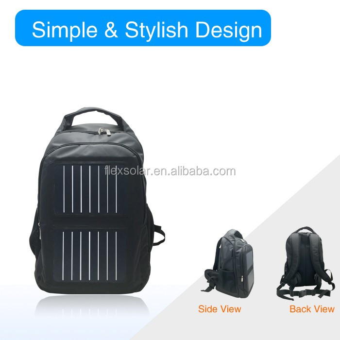 electronic component solar bag, wholesale waterproof solar backpack