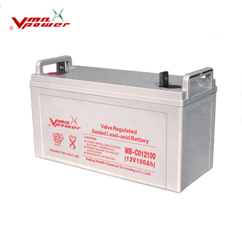 solar power system 24v 100ah lead acid battery GEL deep cycle seal lead acid battery