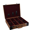 high end custom leather wine bottles box gift storage packing box 4 bottles