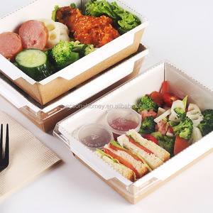Custom Printed Microwave Safe Take Out Food Box Disposable Paper Lunch bento Box