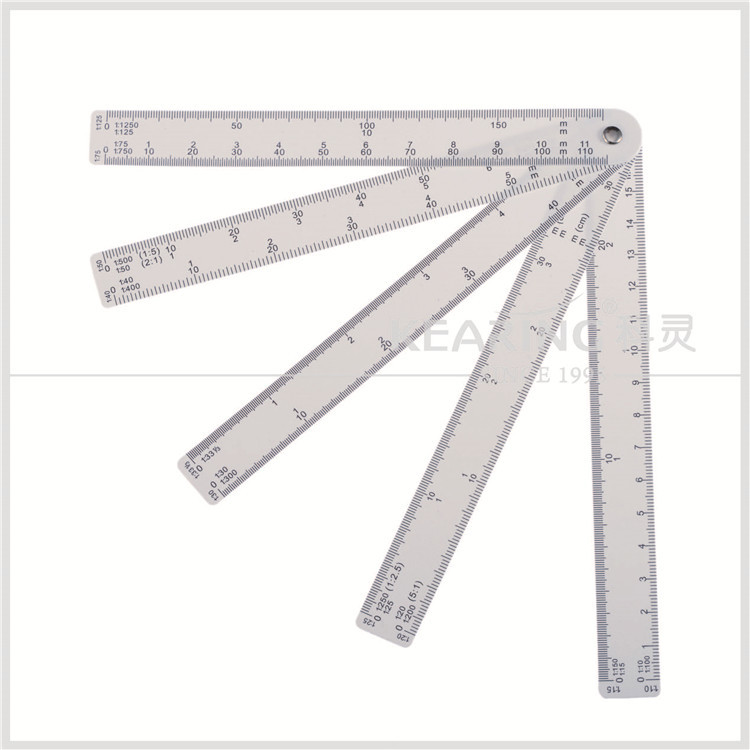 2016 New Style Engineer Fan Shaped Scale Ruler Plasatic Architect ...