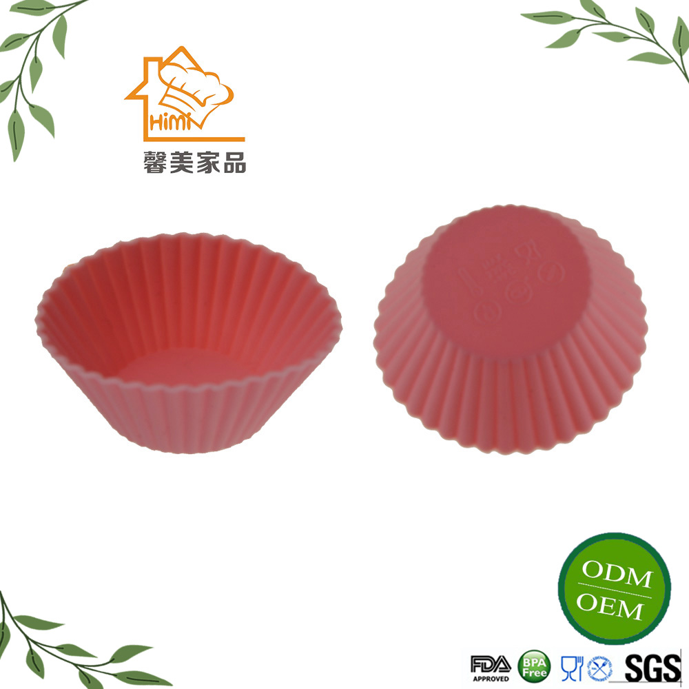 Amazon Hot Selling silicon muffin cups Silicone Cup Cake/ Muffin Baking Tray