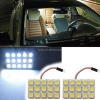 12V LED 5050 15SMD 5050chip Panel Lamp Interior Map Dome Cargo Area Light with BA9S and T10 adaptors