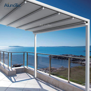 Professional Cheap Waterproof Retractable Roof Metal Awning Outdoor With Curtain