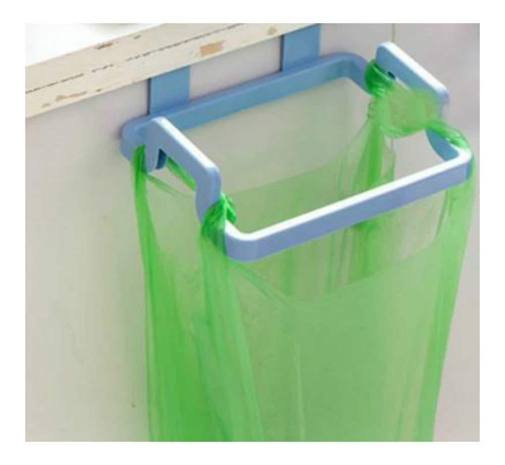 BLUE Kitchen Hanging Trash Rubbish Bags Holder Garbage Storage Racks Cupboard Hanger