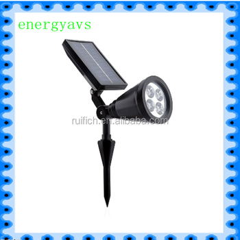 Ip44 4leds Solar Spot Light 6000~7000k 200lm Lawn Lamp Super ...