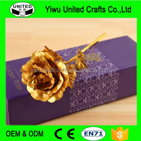 Creative Gold Foil Plated Rose , 24k Gold Dipped Rose , Sweety Valentines Day Gift