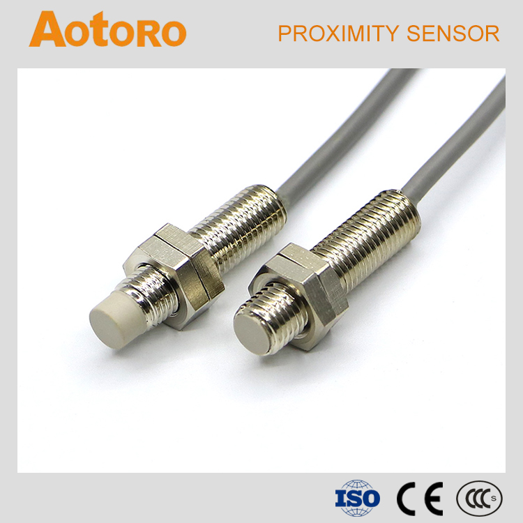inductance switch M8 TR08-2DP PNP 3wires 6-36vdc electronic proximity sensor for tracking
