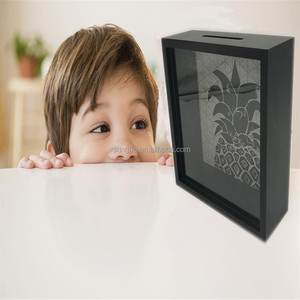 funny money saving box for kids in top loading