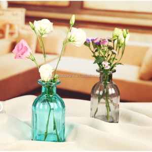 DAILY Colorful Murano Flower Glass Vase Clear Glass Vase