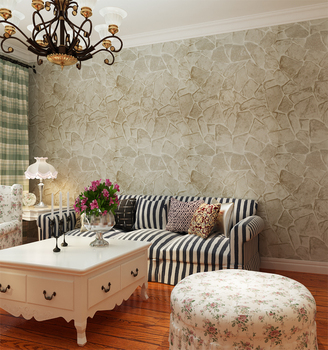 Living Room Soundproof Strippable 3d Wallpaper Stone