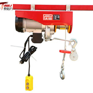 Electric Wire Rope Hoist 220 lb Load Capacity 50 fpm Lift Speed Unlimited Hoist Lift