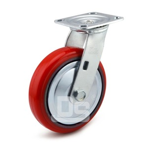 Dashi DS-34 series 150-300kg load capacity wheel PU tread cast iron casters