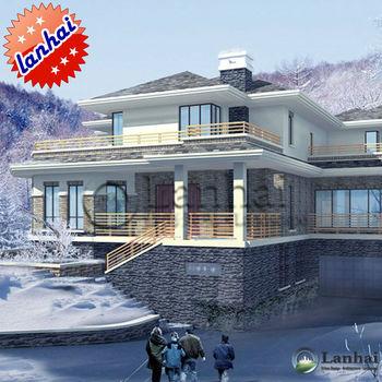 The Snow Villa Architecture Design 3d Rendering