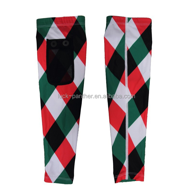 phone pocket custom sublimation compression cycling arm sleeves
