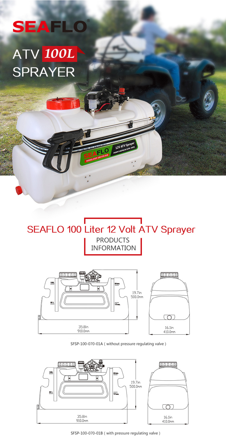 SEAFLO 100L 26LPM Pumpe 60PSI Nebel Kitt Sprayer Pumpe ATV