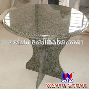 Ogee Green Granite Round Kitchen Dining Table Top