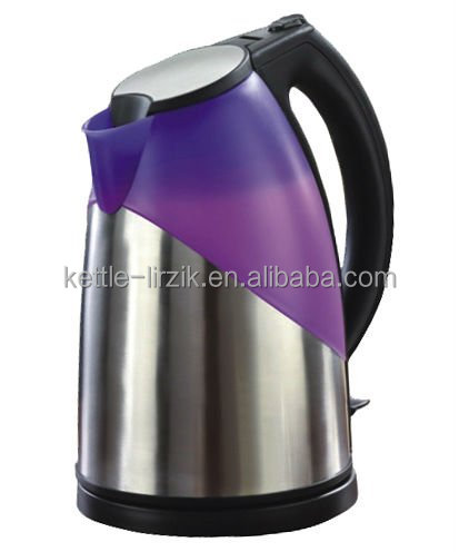 Fancy plastic change color electrc kettle series with led light