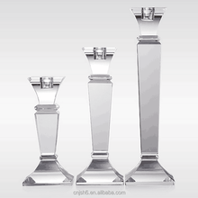 Tall Glass Candle Holders /crystal glass candlestick Candelabra for wedding decoration