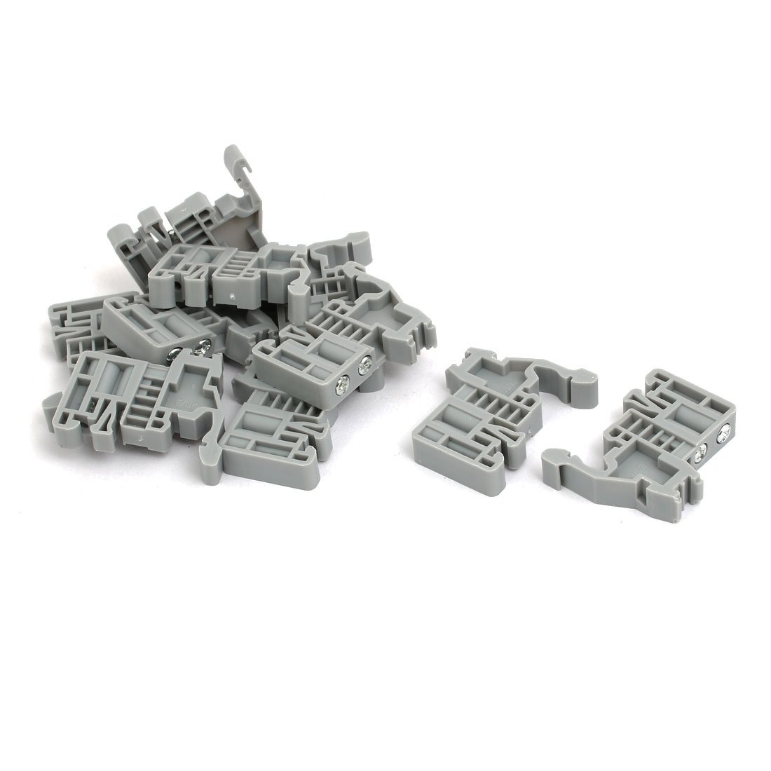 uxcell 10pcs 35mm DIN Rail Mount Guide Support Fixing Terminal Block