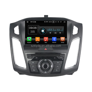 Factory price 1 din hd capacitive screen pure android 8.0 system 8 core 9 inch parrot bluetooth mp3/mp4 car auto media for Focus