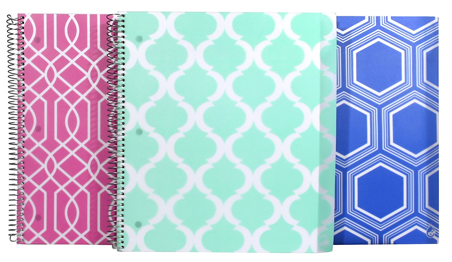 Studio C Pattern Play Five Subject Writing Notebook, 3 Pack (36132)