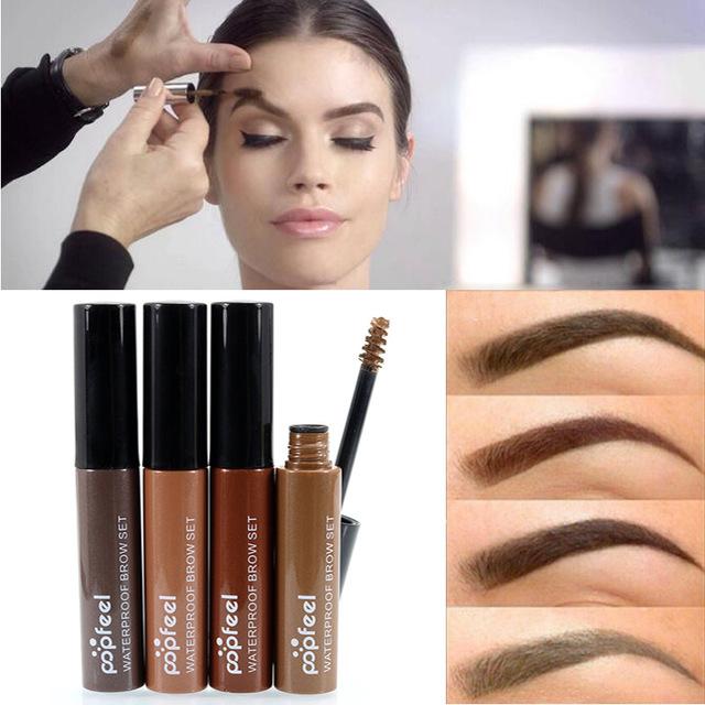 2018 Hot Brand Makeup Coffee Black Brown Paint Eyebrows Gel