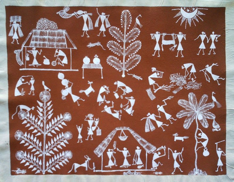 Warli painting buy painting product on alibaba thecheapjerseys Image collections