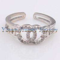 ODR0265 Hot sell creative engraving two crossed letter C fashion wedding rings Jewelry
