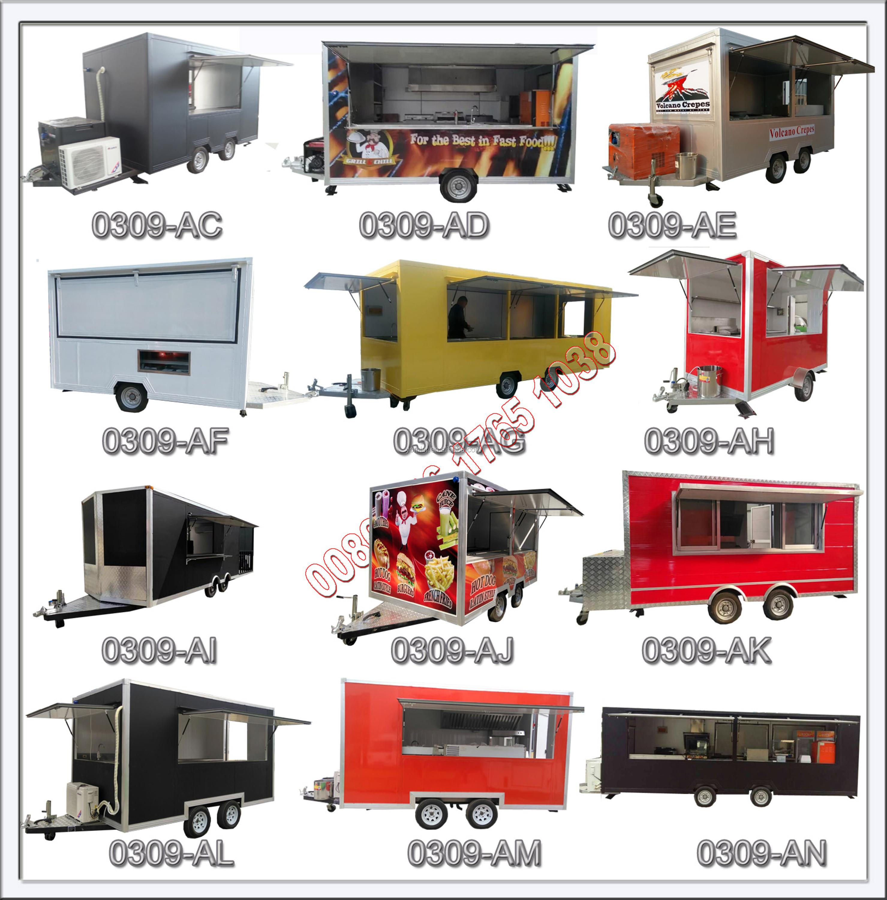 Mobile Street Fast Food Kitchen Van/concession Truck/catering Coffee ...