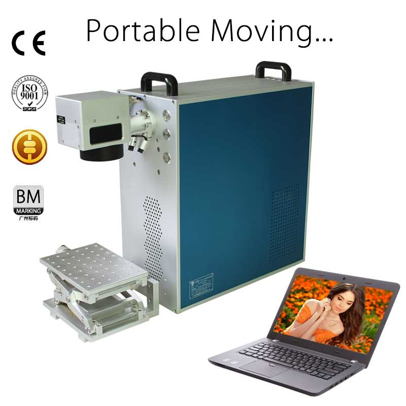 10w 20w 30w car number plate portable fiber laser marking machine hot sale India