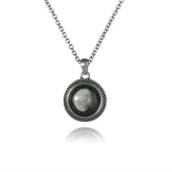 Trend 2018 Moon Phases Interchangeable Pendant Necklace - Buy  Interchangeable Pendant Necklace,Crescent Moon Pendant Necklace,Glowing  Moon Phase