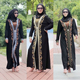 2018 latest design Long sleeve front open traditional eid muslim abaya dubai