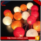 Colorful christmas tree decoration thailand cotton ball string light
