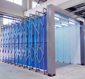 JD-A10 Retractable water based paint spray booth