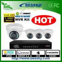 2015 best selling P2P POE 7modo security camera , 2MP / 1.3MP HD 7modo security camera ( Bessky factory )
