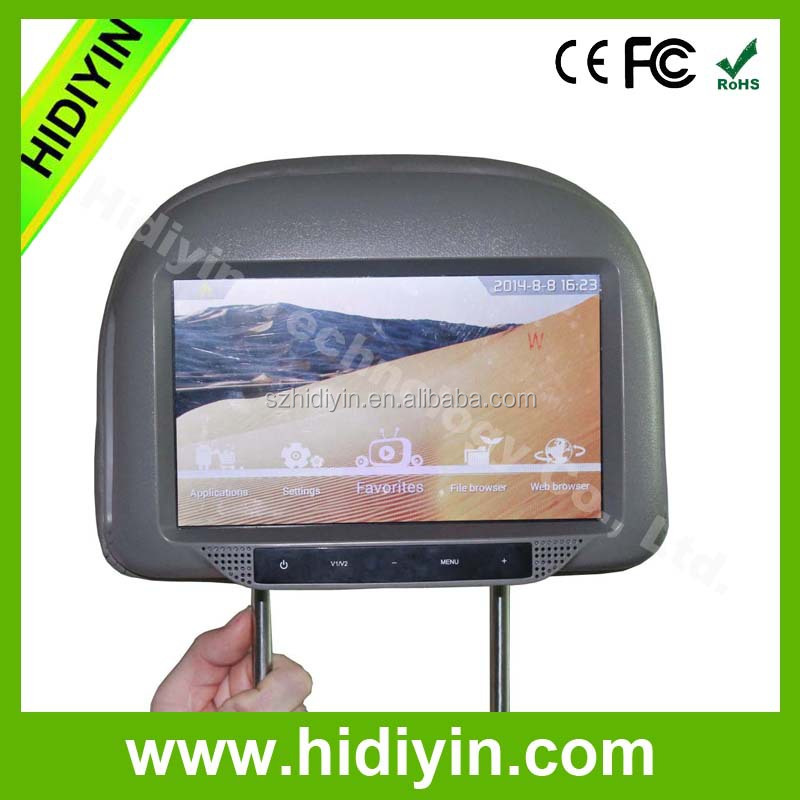 wifi 3G network cab taxi android digital signage 9 inch 15 inch car headrest monitor