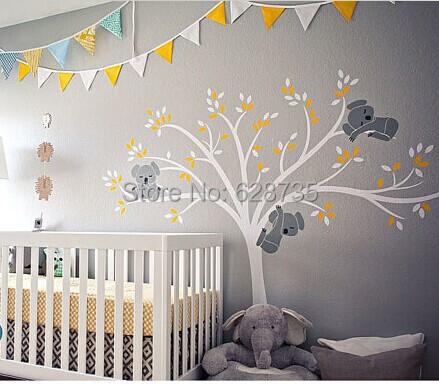 versandkostenfrei bergro en 220x196cm gro e koala baum wandtattoo f r baby. Black Bedroom Furniture Sets. Home Design Ideas