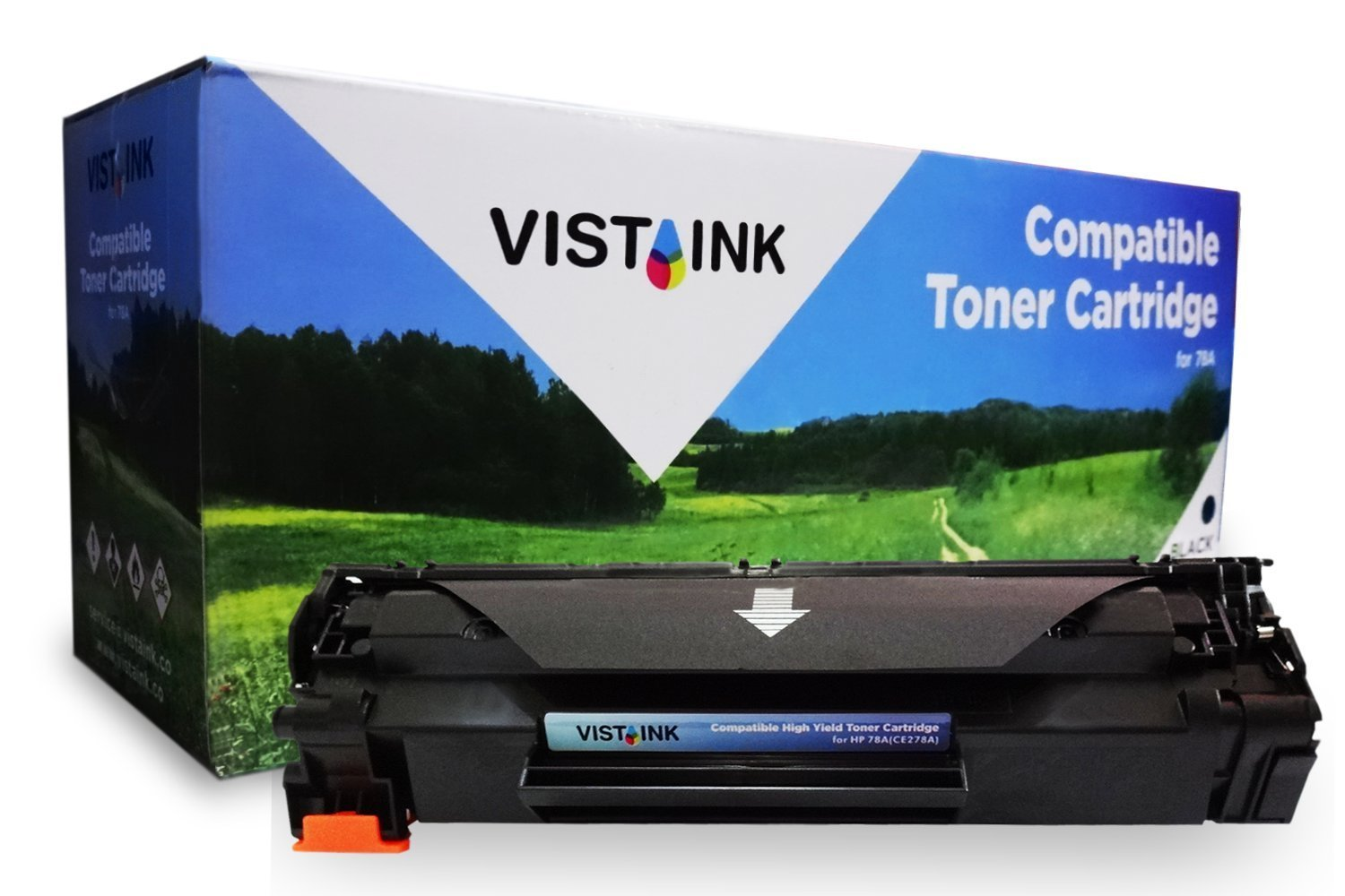 Vista Ink Compatible Toner Cartridge Replacement for HP CE278A ( Black )