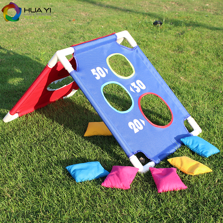 New cornhole bean bag toss game set for kids outdoor games in garden playing game