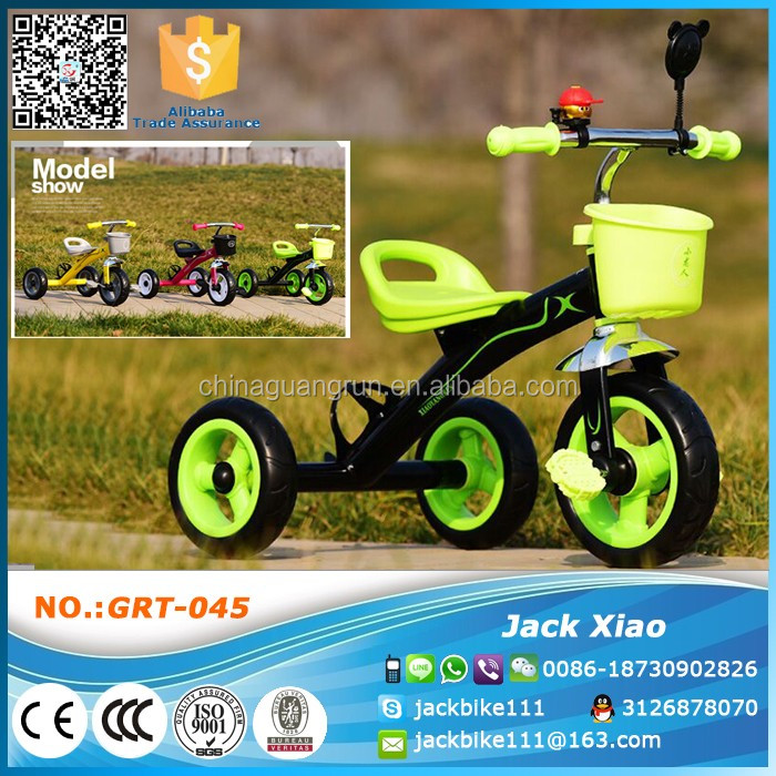 2016 new model baby tricycle 2 seats children tricycle kids bike in hebei china supplier
