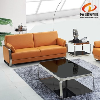 Foshan Lelian Factory Italian Leather Modern Sofas Small Bedroom Sofa Executive Luxury Office Furniture