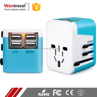 Worldwide All In One Universal Travel Adaptor Safety Charger USB International Adapter Plug