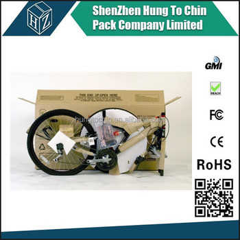 Contact us for factory recyclable strong paper custom cardboard bike box
