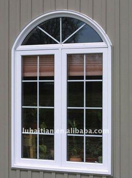 Upvc french window with arc top buy upvc window french - Molduras para ventanas exteriores ...
