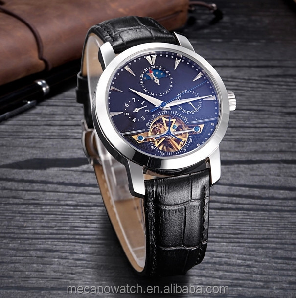 High Quality Stainless Steel Automatic Mechanical Wristwatch,Three Eyes Tourbillon Men Watches