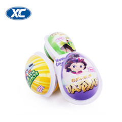 surprise egg cartoon packaging pre made chocolate beans food pvc film for confectionery