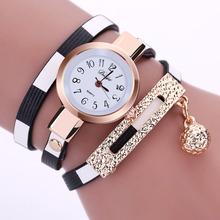 2016 Nova Moda Women Watch PU Pulseira De Couro Relógio Ocasional Relógio de Quartzo Das Mulheres Relógio de Pulso Marca de Luxo Relogio feminino Presente