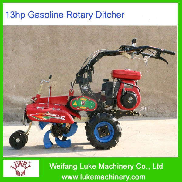 Manual Agricultural Wheel Power Hoe Cultivator
